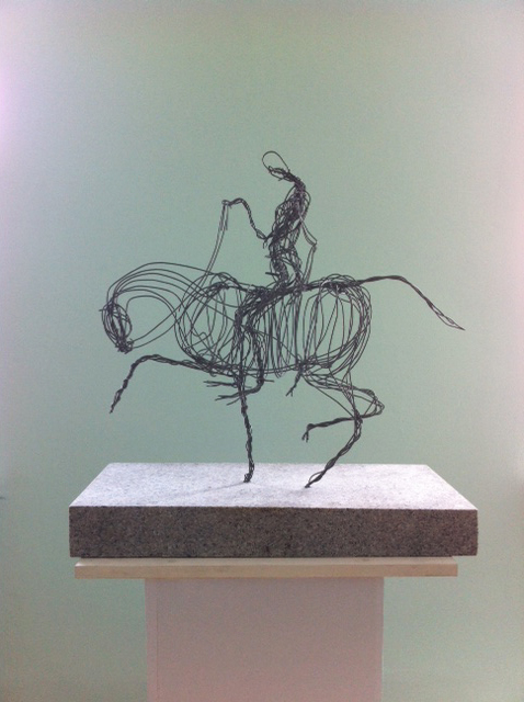 Wire Art - Don Quichotte with Rosinante